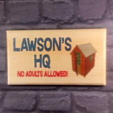 Large Personalised HQ Plaque / Sign / Gift - Shed No Adults Boys Treehouse