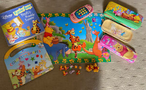 Rare Vintage Winnie Pooh Mini Figures Placemat Books Phone And 3x Pencil Cases