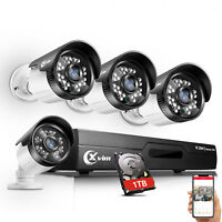 XVIM 8CH 1080P DVR 1TB HDD Outdoor 720p Home Surveillance Security Camera System