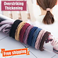 5x Resilience Seamless Girl Elastic Rubber Hair Ties Band Rope Ponytail Holder
