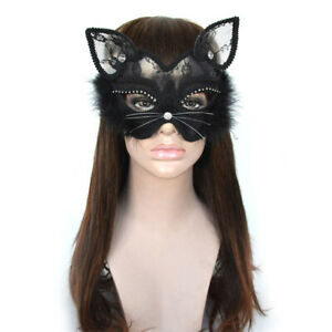Sexy Black Lace Venetian Masquerade Fancy Dress Accessories Cat Mask Party Mask