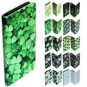 For Nokia Series - Shamrock Clover Theme Print Wallet Mobile Phone Case Cover #2
