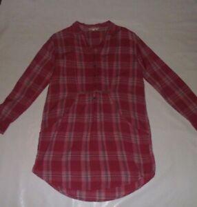 White Stuff Pink Check Tunic Size 10