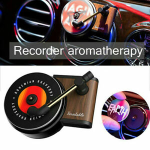 Car Perfume Clip Record Player Air Freshener Auto Vent Fragrance Smell Diffuser