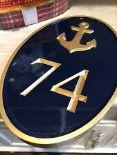 Nautical Address Sign #74 Hardwood Beautiful Hand Crafted Mailbox