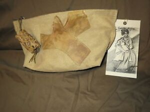 Authentic Susan Riedweg Gold Suede Hand Made Purse Bag Clutch NWT