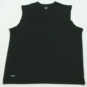 Prospirit Sleeveless Solid Black Solid Crewneck Tee T-Shirt Top Size X-Large XL
