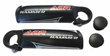 ABR Hammer Bicycle Handlebar Bar Ends Alloy Black 110mm & End Caps