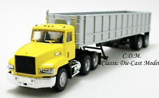 Mack 603 Yellow w/Dump Trailer 36' Tandem Axle 1/87 HO Scale Promotex 6595-YL