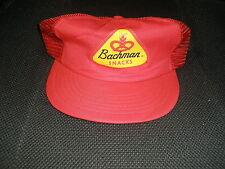 Vintage Bachman Snacks Hat Adjustable Made is USA