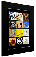 MOUNTED / FRAMED PRINT COMPLETE TAKE THAT DISCOGRAPHY - 3 SIZES POSTER ART