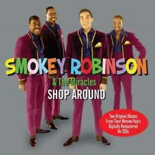 SMOKEY ROBINSON & THE MIRACLES Shop Around NEW & SEALED 2X CD SOUL MOTOWN 60s