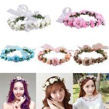 Women Girl Crown Wreath Wedding Flower Headband Garland Hair Band Floral Garland