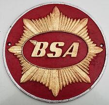 BSA Cast Metal SIGN bantam starfire gold star rocket b20 b21 dandy ariel 3 sport
