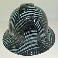 NEW FULL BRIM Hard Hat custom hydro dipped AMERICAN FLAG BLACK OPS RECON EDITION