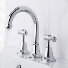 Linsol Damian Bathroom 3 Basin Sink or Vanity Tap Set - Water Faucet Taps