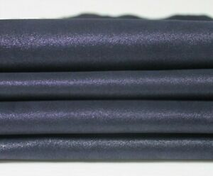 DARK BLUE SUEDE PEARLIZED shimmer Lambskin leather 2 skins 0.6mm 6sqf #A5710