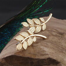 Popular Women New Gold Plated Leaf Design Stud Earrings Jewelry Wholesale