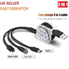 Universal 3 in1 Multi USB Charger Charging Fast Cable for Android Phones Tablets