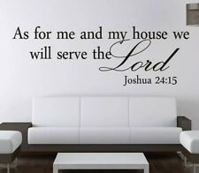 As for me and my house we will serve the Lord decal wall sticker home decor