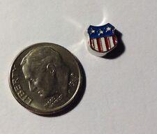 Americana Flag Shield Army Navy Military Fits Origami Owl Floating Charm
