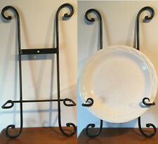 Wrought Iron Hanging Plate Holder - For Big Plates - Black