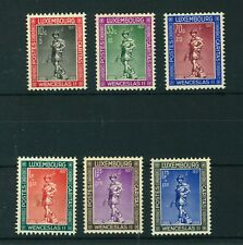 Luxembourg 1937 Child Welfare full set of stamps. Mint. Sg 360-365.