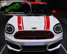 New Mini F60 Countryman Black & Red gloss grille cover 2017 + cooper S JCW look