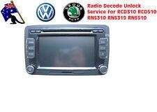Volkswagen Radio Decode Unlock for RCD310 RCD510