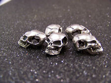 5 J&S PEWTER SKULL BEADS SIDE HOLE  EDC. PARACORD LANYARDS ZT.SURVIVAL xm-18 sng