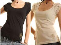 Top T-Shirt Donna Maglia ZONA BRERA Canotta A903 Tg S M L