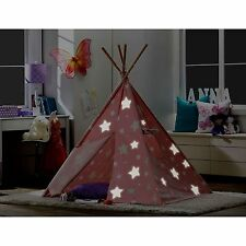 Kid Teepee Tent Wigwam Hut Playhouse Tee Pee Glowing Indoor Portable Childrens