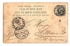 1899, Bild-GS (CL), Kap der guten Hoffnung, 1 P. nach Deutschland, div. Stempel