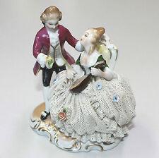 Unterweissbach Porzellan Figur Mandoline Rokoko Antik Thüringen Sehr Selten