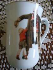 Vintage 1936 Norman Rockwell The Saturday Evening Post Mug w Gold Trim Brand #