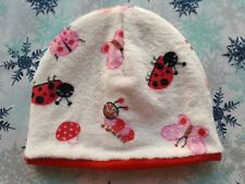NEW BUTTERFLIES & LADYBIRDS FLEECE BEANIE HAT. SZ S/M DOUBLE FLEECE. SUPER SOFT.