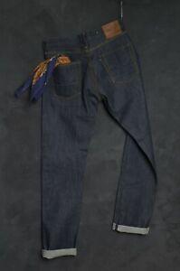 The Big E Jean Company Men Jeans W30 L35 SELVAGE Denim Indigo Sanforized Errol