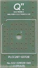 Płytka PLCC28T na podstawkę DIP28 0.6 cala. [PL]