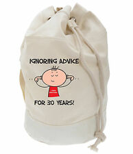 IGNORING ADVICE FOR 30 YEARS 30TH BIRTHDAY DUFFLE BAG - Gift Present Funny