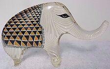 Vintage LG Abraham Palatnik Lucite Acrylic Elephant Sculpture Figurine Pal 2496