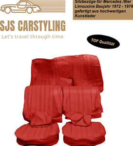 Seat Covers For Mercedes Benz W114 W115 Saloon/8ter Year 1972-1976, Red