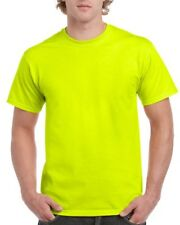5 pieces hi vis safety green t-shirt round neck tee workmans tshirt tees shirts