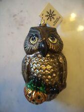 Slavic Treasures Who's Afraid Owl Polish Glass Halloween Ornament
