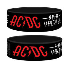 Official - AC/DC High Voltage - Black Rubber Gummy Wristband