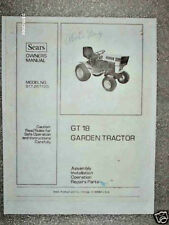 917.257120- Sears Suburban Tractor- GT18 Owners/Parts Manual on CD