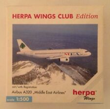 Herpa Wings Club Middle East Airlines Airbus A320 1/500