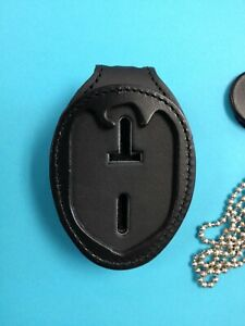 """NCIS Leather Clip on Badge Holder , fits up to 1.5"""" belts"""