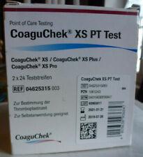 Roche Coaguchek - XS PT Test 48 Bandes Réactive - Validité 2021-01-31