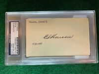 Ed Heusser PSA Autograph 3x5 Index Card Slabbed #83941277 TOUGH HTF DEC. 1956