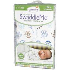 New Baby SwaddleMe Wrap Swaddle Blanket Small Little Monkeys